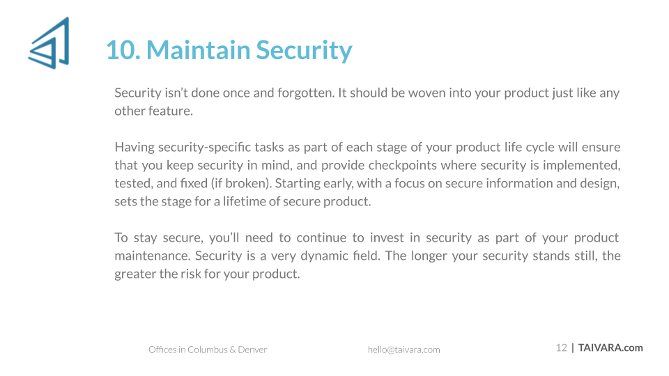 Top 10 Security Best Practices for Digital Products (12)
