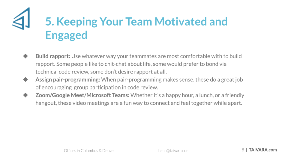 5 Insights for Managing a Remote Development Team (7)