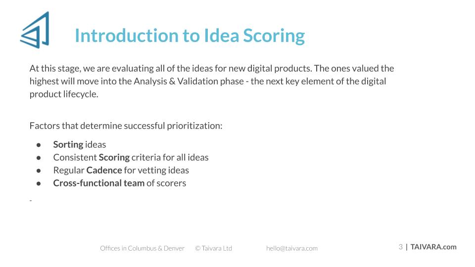 Idea Scoring (2)