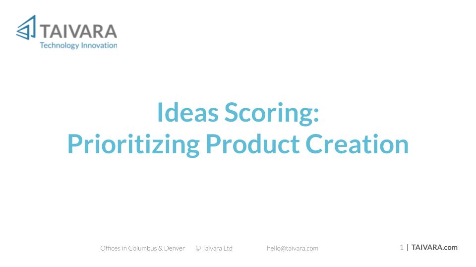 Idea Scoring